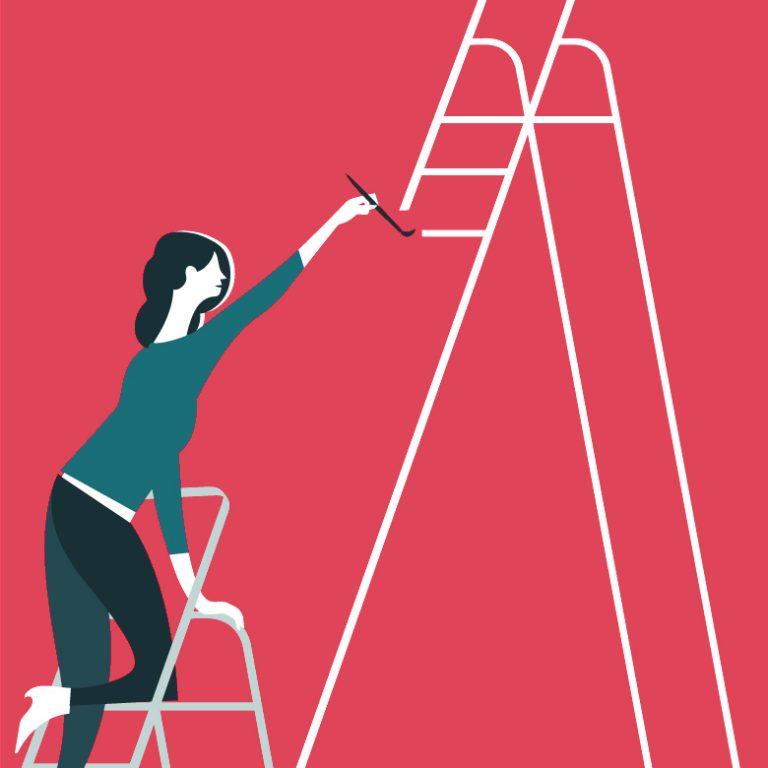 BNF Dual Career Couples: personne féminine peint une échelle