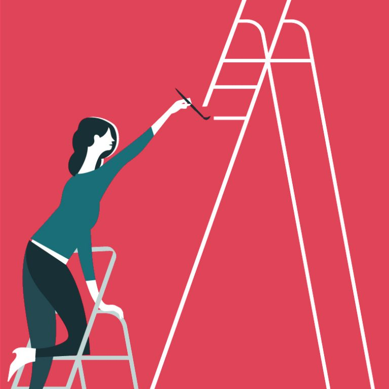 BNF Dual Career Couples: femal person paints ladder